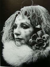 """Irina Ionesco montado Impresión de fotografía 16 X 12"""" 1975 II17 Erotica lesbiana Gótico"""