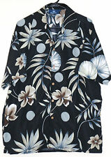 Suxxess Hawaiian Floral Button Up Shirt - Large - Tropical Tiki - Black