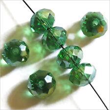 20 perles à Facettes Rondelles 8 x 6 mm en Cristal Vert AB