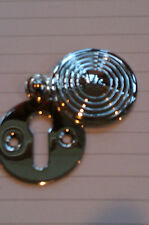 Polished Chrome Reeded Covered Escutcheon Key Hole Cover Quality
