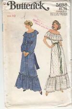 Butterick 5698 Top Dirndle Skirt Slip Loose Fit Sewing Pattern Uncut 10