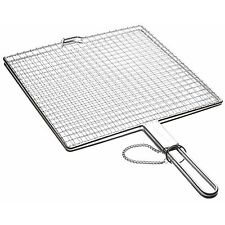 Kitchen Craft 27cm Square Lockable Toasting BBQ Barbecue Grilling Rack Grill
