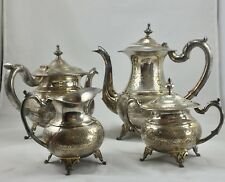 Antique/vintage E.P.S. Silver Plated Coffee And Tea Set Marked E.P.S 15M