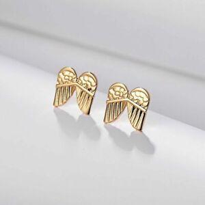 Gold Wings Ear Stud Earrings Gift Box Included