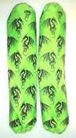 Shock Protector Covers Arctic Cat Sled Neon Green Dragons Snowmobile Set 2