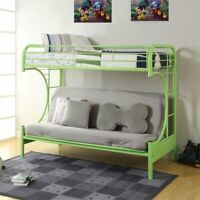 ACME Furniture Eclipse Twin over Full Futon Bunk Bed in Green