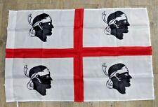 Bandiera Sarda 4 quattro mori Bianca sardegna 90x60 polyester flag sbendata