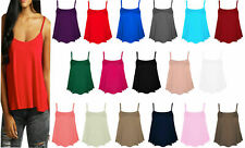 Women Cami Top Ladies Camisoles Vest Flared Swing Strappy Plus Size Top 8-26