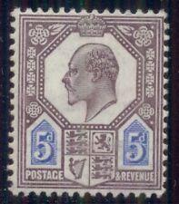 Great Britain #134 5p dull purple & ultramarine, og, Lh
