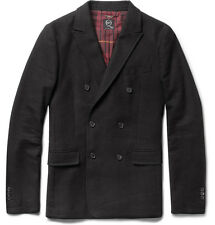 MCQ BY ALEXANDER MCQUEEN BLACK DOUBLE BREASTED WOOL BLEND JACKET RETAIL £515