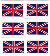 "UK - BRITAIN FLAG, Union Jack  (1 3/4"" x 1"")-6 Temporary Tattoos/ Flags,British"