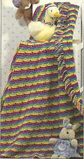 *Child's Reversible Rainbow Afghan crochet PATTERN INSTRUCTIONS