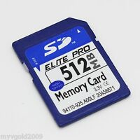 High Speed 512MB SD Card non HC, Memory Card for Cameras With Plastic Case