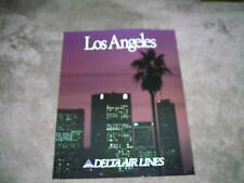 DELTA AIR LINES - LOS ANGELES - LARGE POSTER 28 x 22  NEW