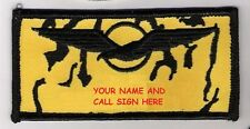 NTM NATO PILOT FLIGHT SUIT NAME TAG: Custom Embroidered your NAME and CALL SIGN