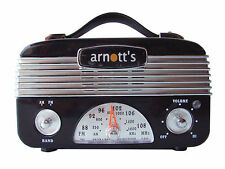 Retro Vintage AM/FM Radio  Vintage Black