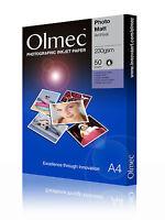 Olmec 230gsm Photo Archival Matt Inkjet Paper A4/50 Sheets