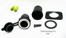 Waterproof Heavy Duty 25 Amp 12V Plug Lighter Socket High Power Outlet W/ Boot