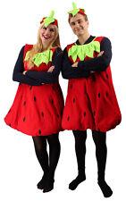 Erdbeerkostüm rot Unisex Erwachsene Kostüm Frucht Erdbeerkleid Karneval Fasching