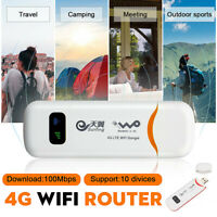 4G LTE WiFi Router USB Dongle Wireless Hotspot Mobile Broadband SIM Card 150M/s