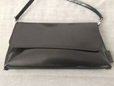 Classic black leather shoulder bag / handbag JOST - brand new