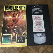 DAVID LEE ROTH 1986 VHS rock n roll music INTERVIEW FOOTAGE must have