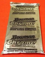 2005 Bowman Chrome FB Hobby Uncirculated Box Topper Pack Green Rookie Refractor