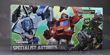 TRANSFORMERS Specialist Autobots Mirage & Ironhide & Houno Figure