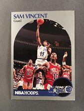 1990-91 Hoops Sam Vincent #223 W/ Michael Jordan Chicago Bulls Jersey #12 NM