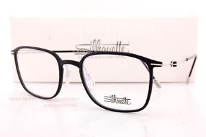 New Silhouette Eyeglass Frames Lite Spirit 2926 9000 Black Matte/Silver Titanium