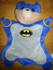 baby Gund Batman Malone blue security blanket Dc Comic Bear teether activity toy