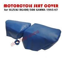 MOTORCYCLE SEAT COVER SUZUKI RG400 RG500 GAMMA 1985-1987 BLUE TWIN SET