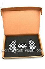 MINI Cooper Checkered Flag Aluminum Door Emblem for R56 R57 R58 R59 GP JCW