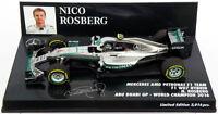 Minichamps Mercedes W07 Abu Dhabi 2016 - Nico Rosberg World Champion 1/43 Scale