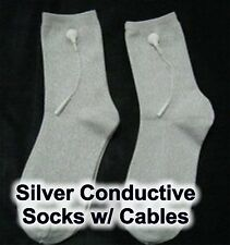 Silver Conductive Socks w/ TENS cables - Feel Calm and Sleep Better!