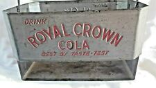 "ROYAL CROWN METAL SODA CARRIER W/""BEST BY TASTE - TEST"""