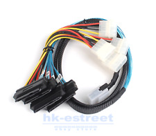 1M Mini SAS Power 36Pin SFF-8087 to 4 SFF-8482 29 pin with 4 SAS Cable With IDE