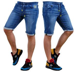 Kurzhose Shorts Kurze Bermuda Jeans Denim Freizeit Hosen Herren KR661