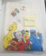 UNIQLO KAWS X SESAME STREET SWEATSHIRT ELMO & COOKIE MONSTER OFF WHITE SIZE 3XL