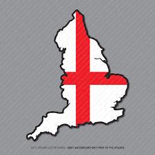 Etiqueta engomada de la bandera de Inglaterra Mapa-Coche-Laptop-Macbook Notebook - 2953
