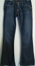 WILLIAM RAST WOMEN'S BLUE JEANS/TROUSER-SIZE 28WX33L-COTTON BLEND-ULTRA LOW RISE