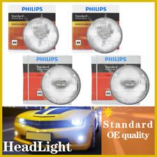 H5001+H5006 Philips 4PCS Headlight Light Bulbs Hi/lo Beam For 1975-1976 BMW 530i