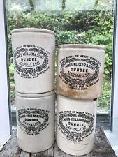 More details for 4x c1900s huge 2lb james keiller & sons dundee marmalade pots jar