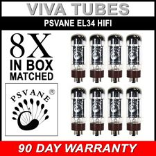 Brand New Plate Current Matched Octet (8) Psvane EL34B HiFi Tubes Ship USA EL34