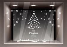Vetrofanie Natalizie Adesivi Decorazione Natale Adesivo Vetrina Negozio Casa
