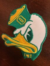 """UO Oregon Ducks Vintage Embroidered Iron On Patch 3.5"""" X 3"""""""