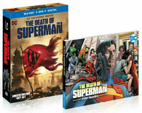 NEW The Death of Superman (Blu-ray/DVD 2018 HD & Graphic Novel) FREE SHIPPING J3