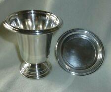 "Vtg 3"" International Sterling Silver Toothpick Urn w/ Underplate Berkeley NH14"