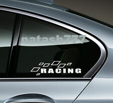 Racing Sport Car Truck SUV Window Vinyl Decal sticker emblem Logo WHITE