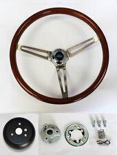 "1965-1966 Galaxie Wood Steering Wheel 15"" SS spokes High Gloss finish"